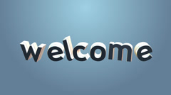 """Language learning concept- word """"Welcome"""" transformation to other languages Stock Footage"""