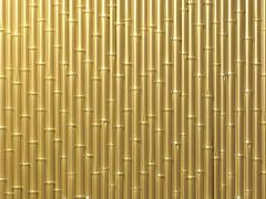 Bamboo wall - stock illustration