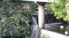 Beautiful water feature in Roma street parklands brisbane australia Stock Footage