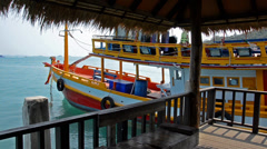 Thailand tourist boat Stock Footage