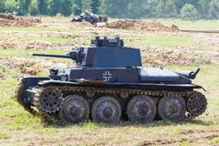 WW2 German Panzer 38 (t) light tank - stock photo
