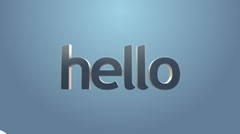 "Language learning concept- ""Hello"" ,other languages greetings typography Stock Footage"
