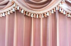 Vaaleanpunainen kuviollinen verhot Kuvituskuvat