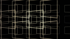 Animation of grid pattern creating 3d boxes Stock Footage