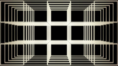 Grid in perspective, distorted and multiplied Stock Footage