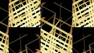 Stock Video Footage of Abstract background composed of overlapping lines multiplied and rotated