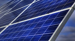 Motion controlled timelapse of a solar panel Stock Footage