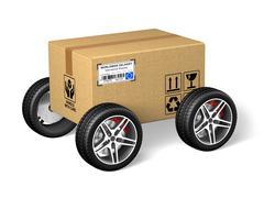 Cardboard box Stock Illustration