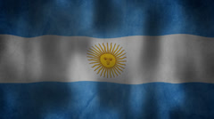Argentinian flag waving HD Stock Footage