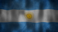 Stock Video Footage of Argentinian flag waving HD