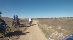 Off road ATV and motorcycle dirt bikes Utah desert HD 003 Stock Footage