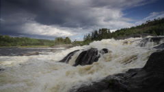 Cascading white water river Stock Footage