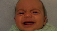 Full face of crying baby audio Stock Footage