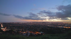 Dolly shot of auckland from mount eden Stock Footage