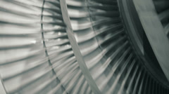 Balancing steam turbine closeup Stock Footage