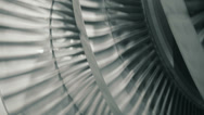 Stock Video Footage of balancing steam turbine closeup