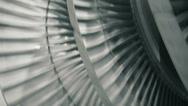 Stock Video Footage of balancing steam turbine closeup