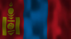 Mongolian flag waving HD Stock Footage