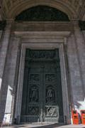 Bronze doors, Saint Isaac's Cathedral. - stock photo