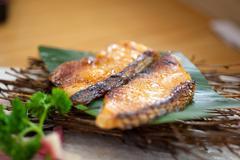 Stock Photo of japanese style teppanyaki roasted cod fish