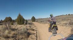 Off road ATV follow dirt bike Utah desert HD 003 Stock Footage