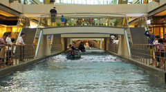 Singapore Marina Bay Sands shopping mall Mall Canal Stock Footage