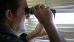 Man Spy Stock Footage