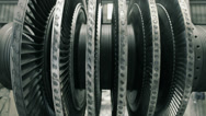 Stock Video Footage of frontal shot of balancing steam turbine