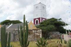 fortress, oranjestad, aruba, abc islands - stock photo