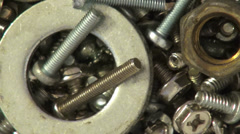 Screws, Nuts, Bolts, Nails Stock Footage