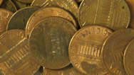 Stock Video Footage of Pennies, Coins, Money, Currency
