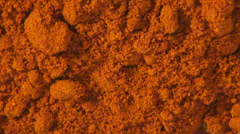 Red Powder, Spices, Grains, Sand Stock Footage