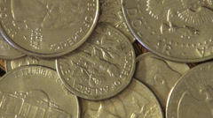 Coins, USA, United States, Money, Currency Stock Footage