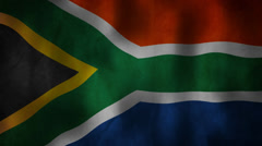 South African flag waving HD Stock Footage
