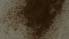Brown Powder, Spices, Grains, Sand Stock Footage