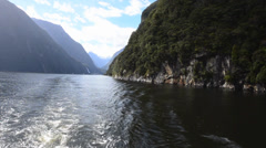 Milford Sound Nature Reserve Stock Footage