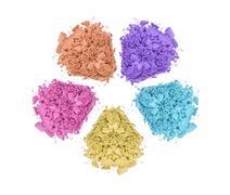 Stock Photo of crushed color eyeshadows isolated on white