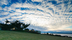 Clouds over the Puget Sound Stock Footage