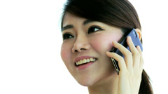 Asian Chinese Female Financial Consultant Close Up Stock Footage