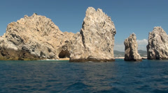 Mexico - Cabo San Lucas - Rocks and beaches - El Arco de Cabo San Lucas 1 - stock footage