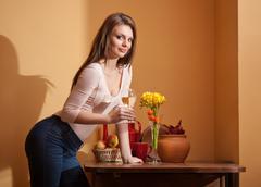 Wine lover. Stock Photos