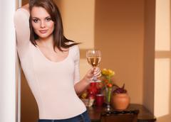wine lover. - stock photo