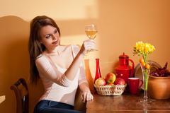 Wine beauty. Stock Photos