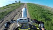 Stock Video Footage of LONG MOTOCROSS WHEELIE ON MOTORCYCLE DIRT BIKE WITH A THUMBS UP IN HD