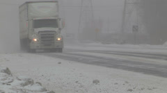 Snow, wind, blowing snow, stormy winter weather  v4 Stock Footage
