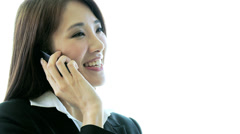 Ethnic Female Advertising Executive Wireless Internet Technology - stock footage