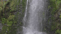 Low to high cascade falls in slow motion Stock Footage