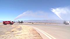 Holloman's Last F-22 Raptor Sortie Landing Stock Footage