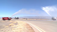 Stock Video Footage of Holloman's Last F-22 Raptor Sortie Landing