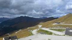 Landscape view from the Coronet Peak, New Zealand Stock Footage